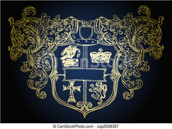 military shield emblem design - csp2508387