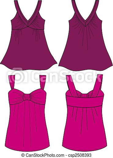 lady sleeveless fancy top - csp2508393