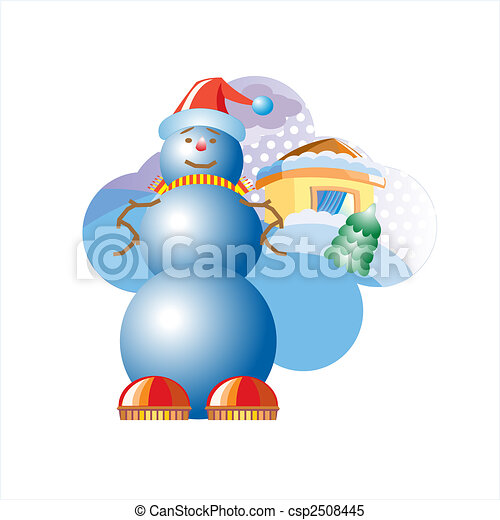 Advertise vector illustration. Snowball. - csp2508445