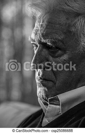Senior man crying