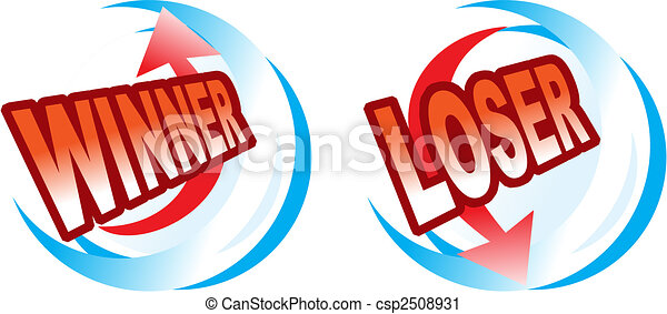 Icons - winner and loser - csp2508931