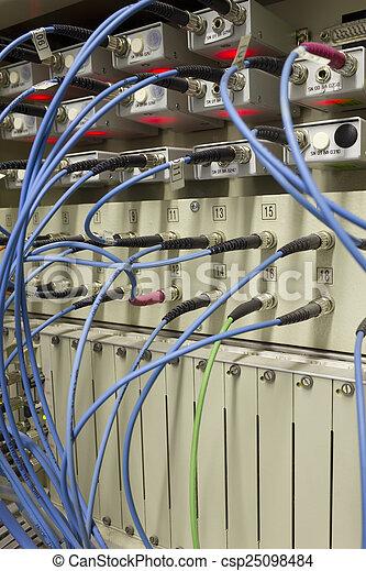 Optical fibre data transfer