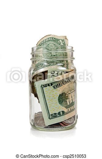 Money in glass jar - csp2510053