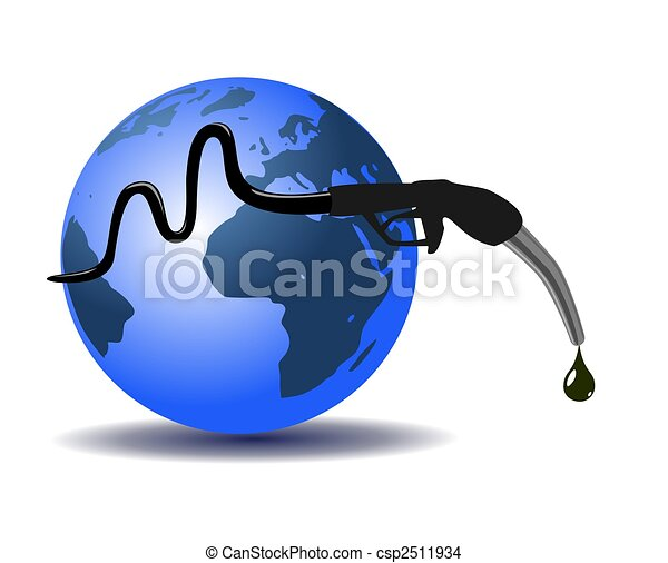 Earth and refueling hose - csp2511934