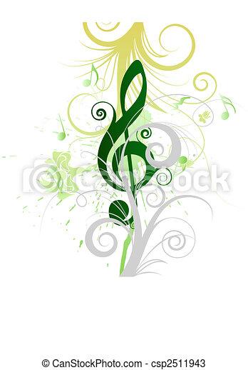 musical grunge - csp2511943