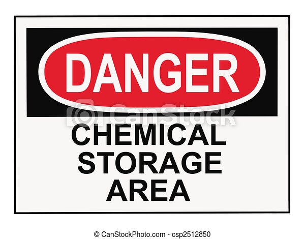 Danger Chemical Storage Area - csp2512850