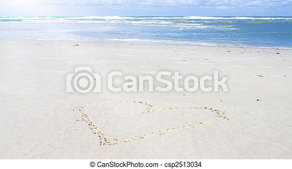 Beautiful beach with sunlight - csp2513034