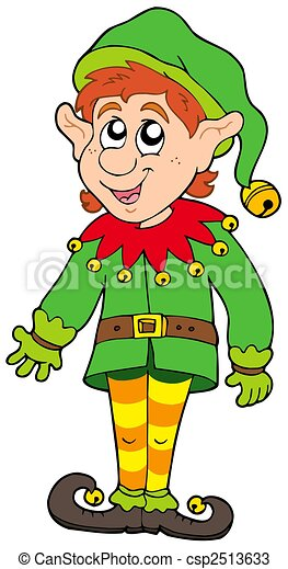 Cute Christmas elf - csp2513633