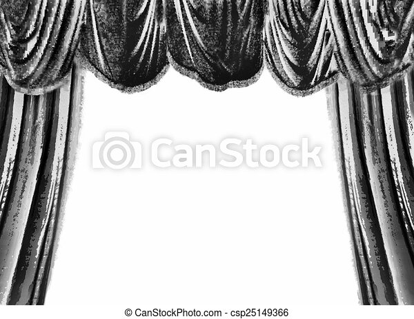 Of theater curtain black and white theater curtain white
