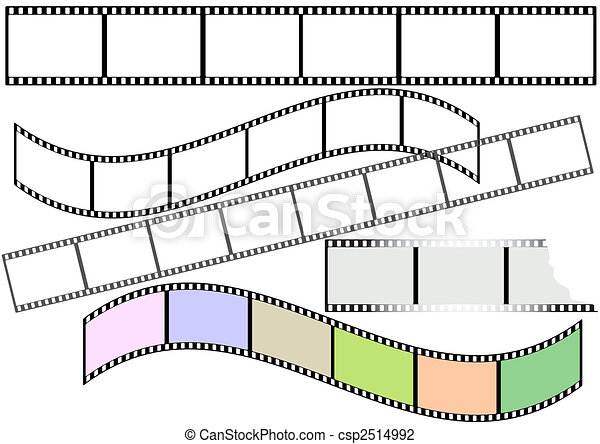 Film strips (vector) - csp2514992