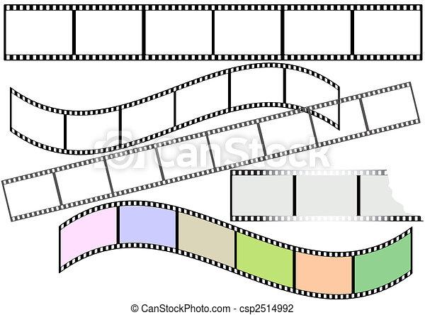 Film strips (vector) - csp2514992