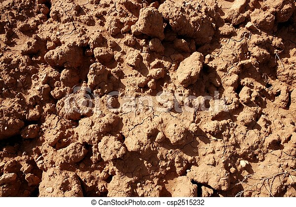 Clay red agriculture textured soil - csp2515232