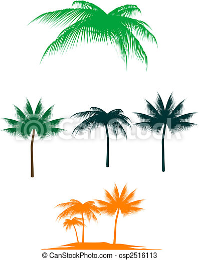 Palm tree set - csp2516113