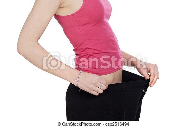 Thin girl after following a diet - csp2516494