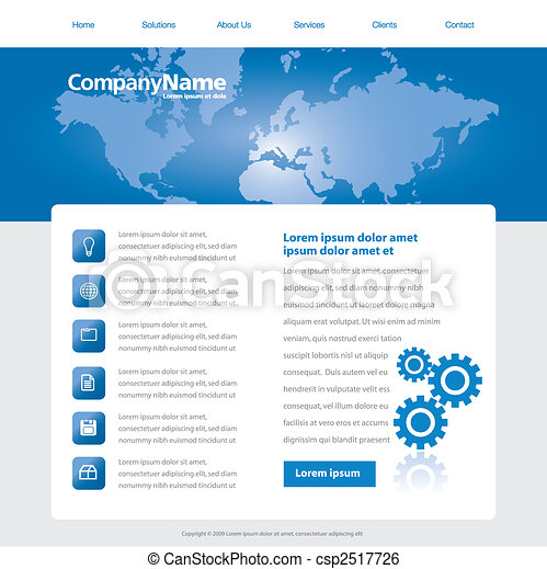 website design template - csp2517726