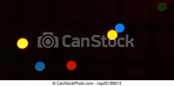 colorful abstract holiday lights - csp25188613