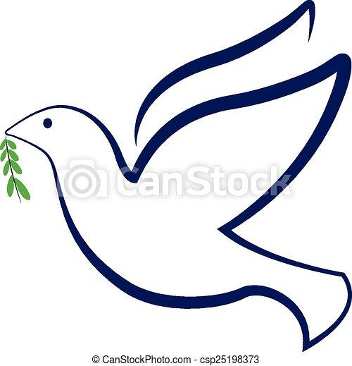 Vectors Illustration Of Vector Peace Bird Dove Logo