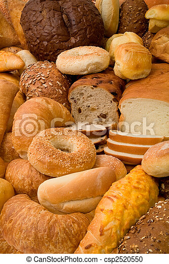 Various Types of Bread - csp2520550
