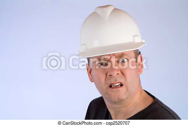 Grumpy Construction Worker - csp2520707