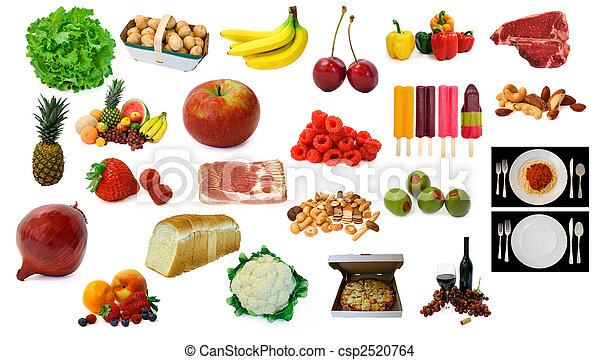 Various Food and Drink Items  - csp2520764