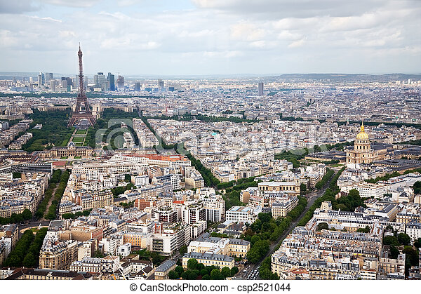 Elevated View of Paris, France - csp2521044
