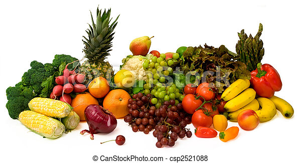 Vegetables and Fruits - csp2521088
