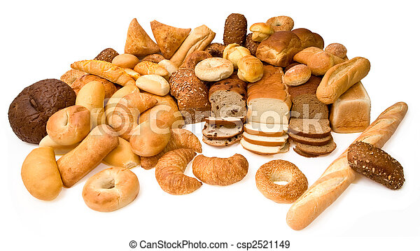 Various Types of Bread - csp2521149