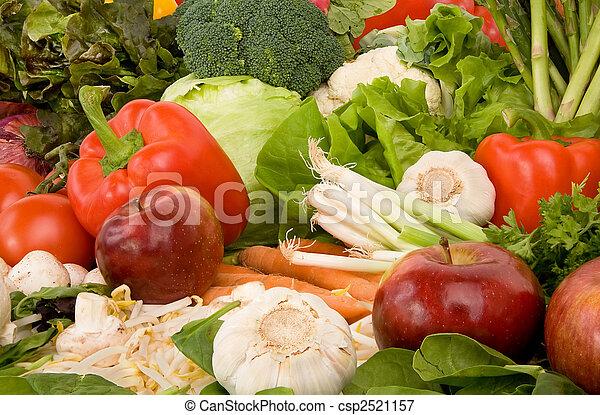 Vibrant Produce Closeup - csp2521157