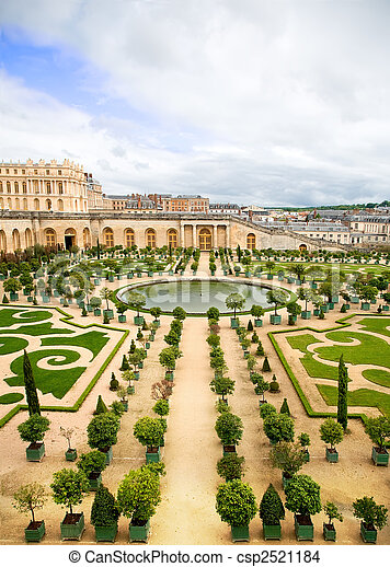photo de jardin versailles france une de versailles palais csp2521184 recherchez. Black Bedroom Furniture Sets. Home Design Ideas
