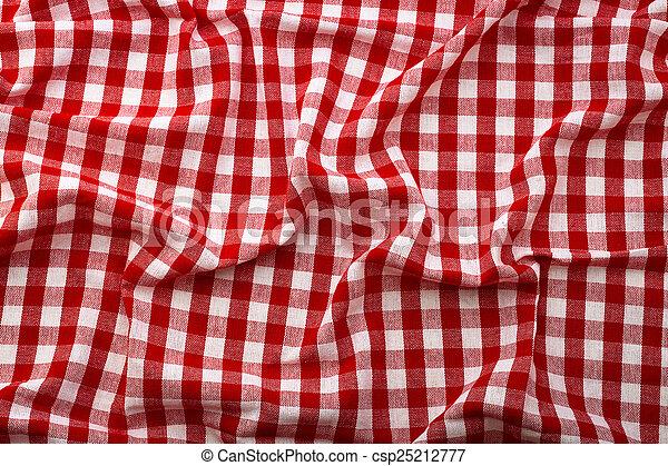 rimpelig, tafelkleed, rood, tartan, in, kooi, textuur, behang, uniek ...