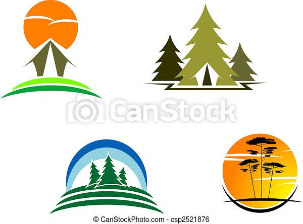 Tourism symbols - csp2521876