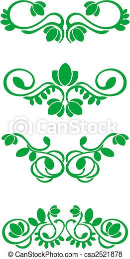 Flourish decorations - csp2521878