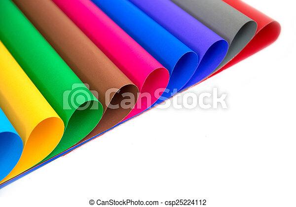 couleur, papier, idée,  lot, métiers - csp25224112