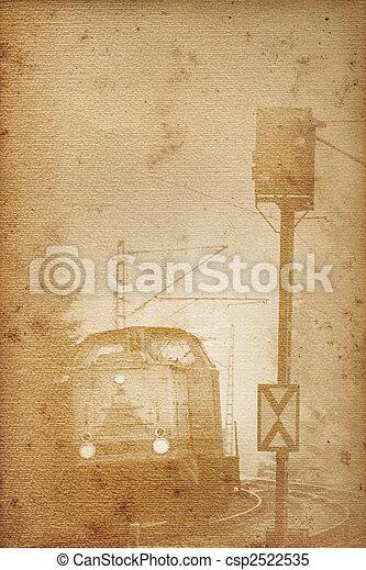 old railway paper - csp2522535