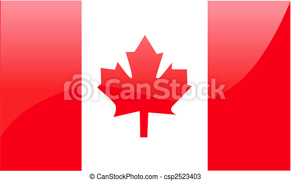 Canadian Flag Vector Illustration - csp2523403
