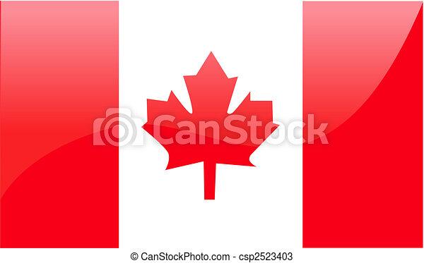 Canadian Flag Vector Illustration - csp2523403