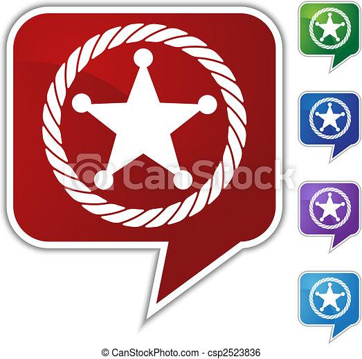 sheriff rope badge - csp2523836