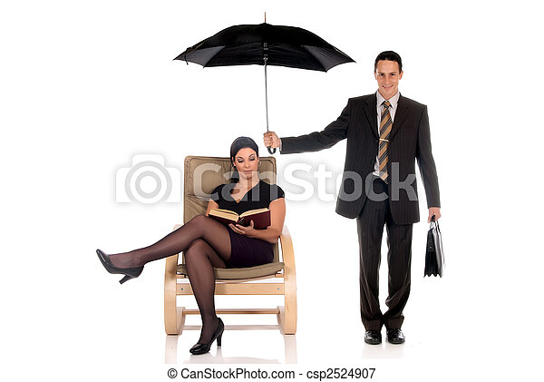 Businessman insurance agent - csp2524907