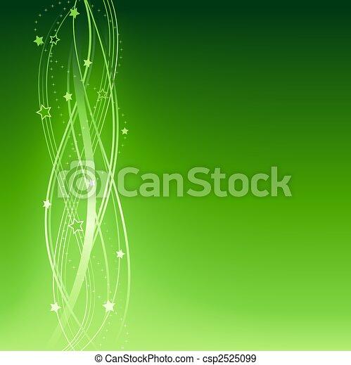 Green festive Christmas, New Years, anniversary background - csp2525099