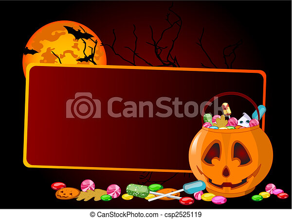 Halloween treats background - csp2525119