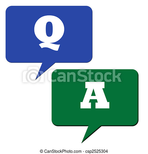 Drawing of Questions and answers - Question and answer speech bubbles ...: www.canstockphoto.com/questions-and-answers-2525304.html