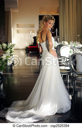 Young adult bride - csp2525394