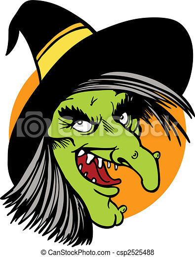 witch face drawing - csp2525488