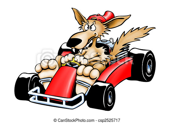 Gokart Wolf - Isolated - csp2525717