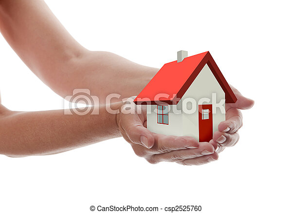 Hands - Holding House - csp2525760