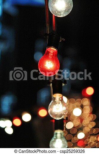 outside light bulb string