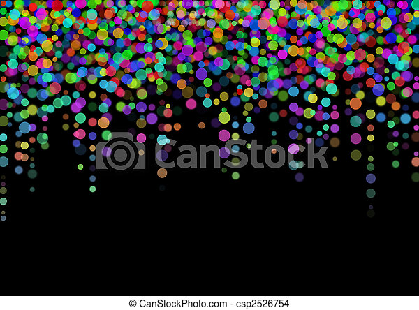 color abstract light spots on black - csp2526754