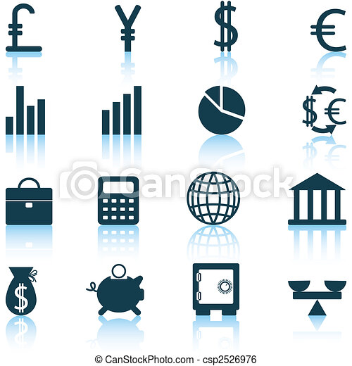 financial icons set - csp2526976