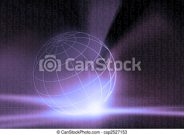 Binary Code Business People - csp2527153