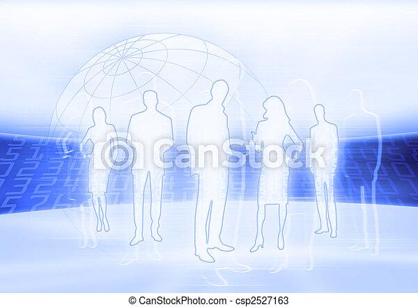 Binary Code Business People - csp2527163